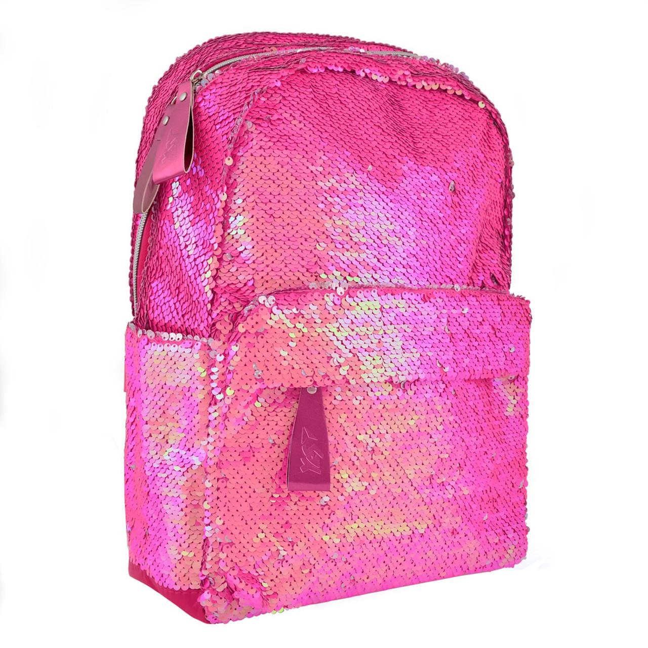 "Рюкзак ""Yes"" GS-01 Pink з паєтками 1від.,3карм. №557674"