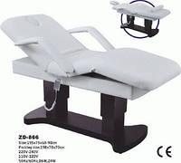 Кушетка косметологическая массажная стационарный массажный стол с регулировками (3 эл.мотора), фото 1