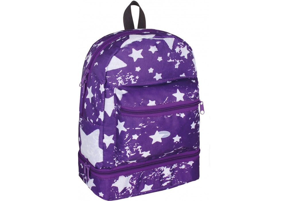 """Рюкзак дошкільн. """"CoolForSchool"""" Starry  Violet 1від. 2карм. 12"""" №CF86086/308"""