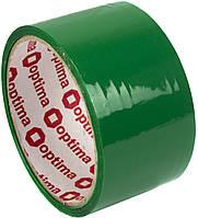 """Стрічка клейка канц. """"Optima"""" №O45304-04 48ммх30м зелен.(6)(72), фото 1"""