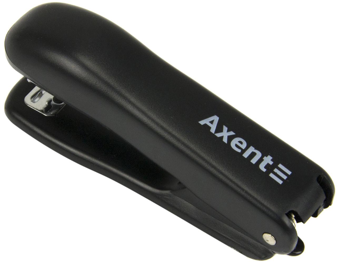 """Степлер """"Axent"""" №10/5 15арк №4222-01-A Standard пласт. чорний(12)"""