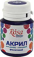 """Акрил для декору """"Rosa Studio"""" 20мл №21010/2738 глянцевий фіолетовий"""