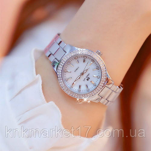 Женские часы Bee Sister 1258 Silver-White Diamonds
