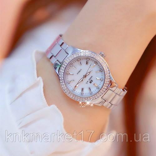 Жіночі годинники Bee Sister 1258 Silver-White Diamonds