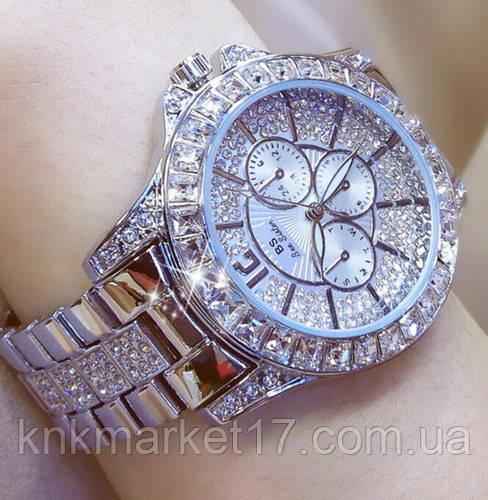 Жіночі годинники Bee Sister 1158 All Silver Diamonds