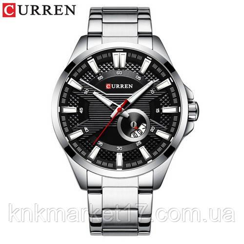 Curren 8372 Silver-Black