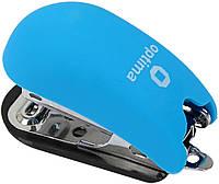 """Степлер """"Optima"""" №24/6,26/6 12арк №O40263-11 Soft Touch міні пласт. блакитний(12)"""