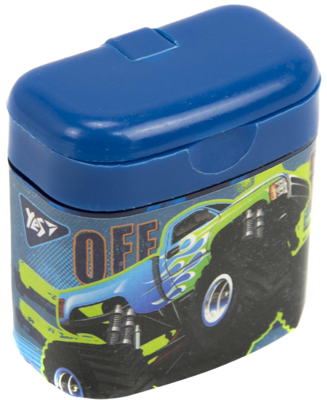 """Точилка """"Yes"""" №620410 M-Trucks подвійна з контейнером(24)"""