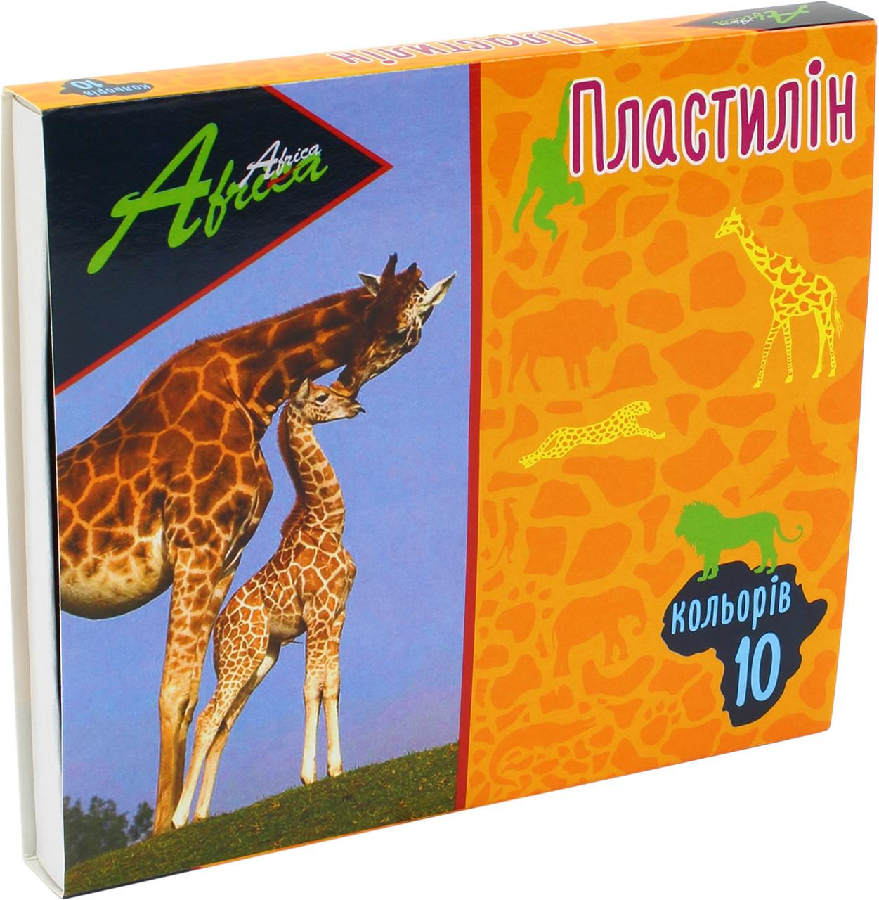 "Пластилін  10 кольор. 200гр ""Economix"" №E60607 Africa (24)"
