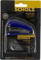 """Степлер """"Scholz"""" №24/6 16арк №4036 синій,міні +1000 скоб(24)"""