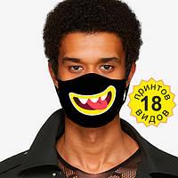 Защитная маска 2х слойная 18 разных принтов в магазине