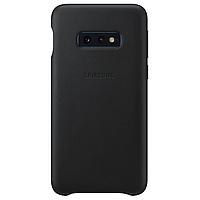 Оригинальный кожаный Чехол Samsung Leather Cover Black для Samsung Galaxy S10e (G970)