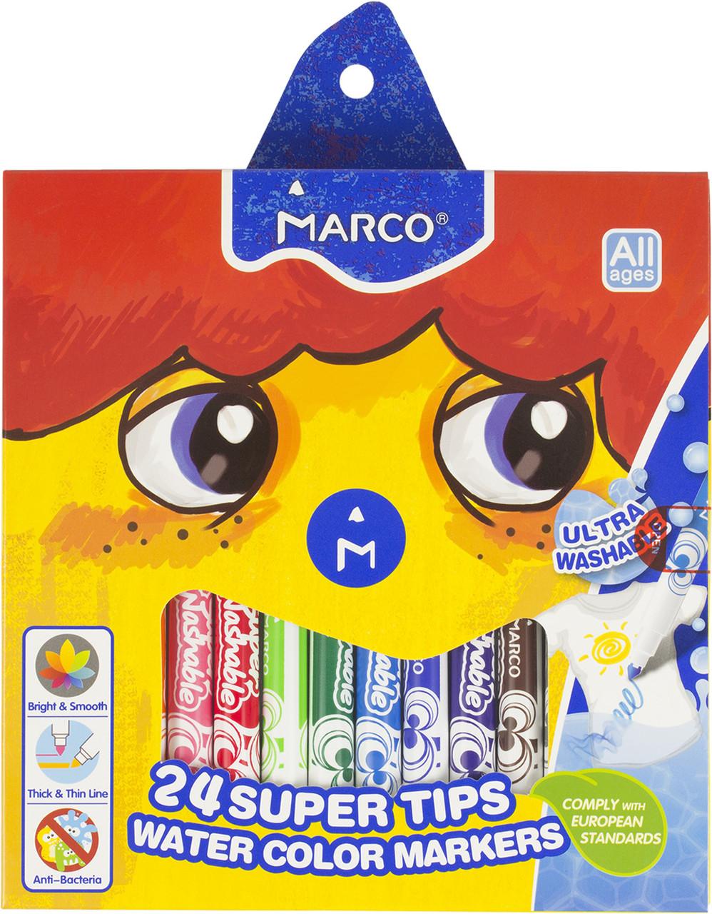 """Фломастери """"Marco"""" 24кольор. 2,3мм №1630-24(6)(24)"""