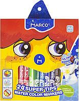 """Фломастери """"Marco"""" 24кольор. 2,3мм №1630-24(6)(24), фото 1"""