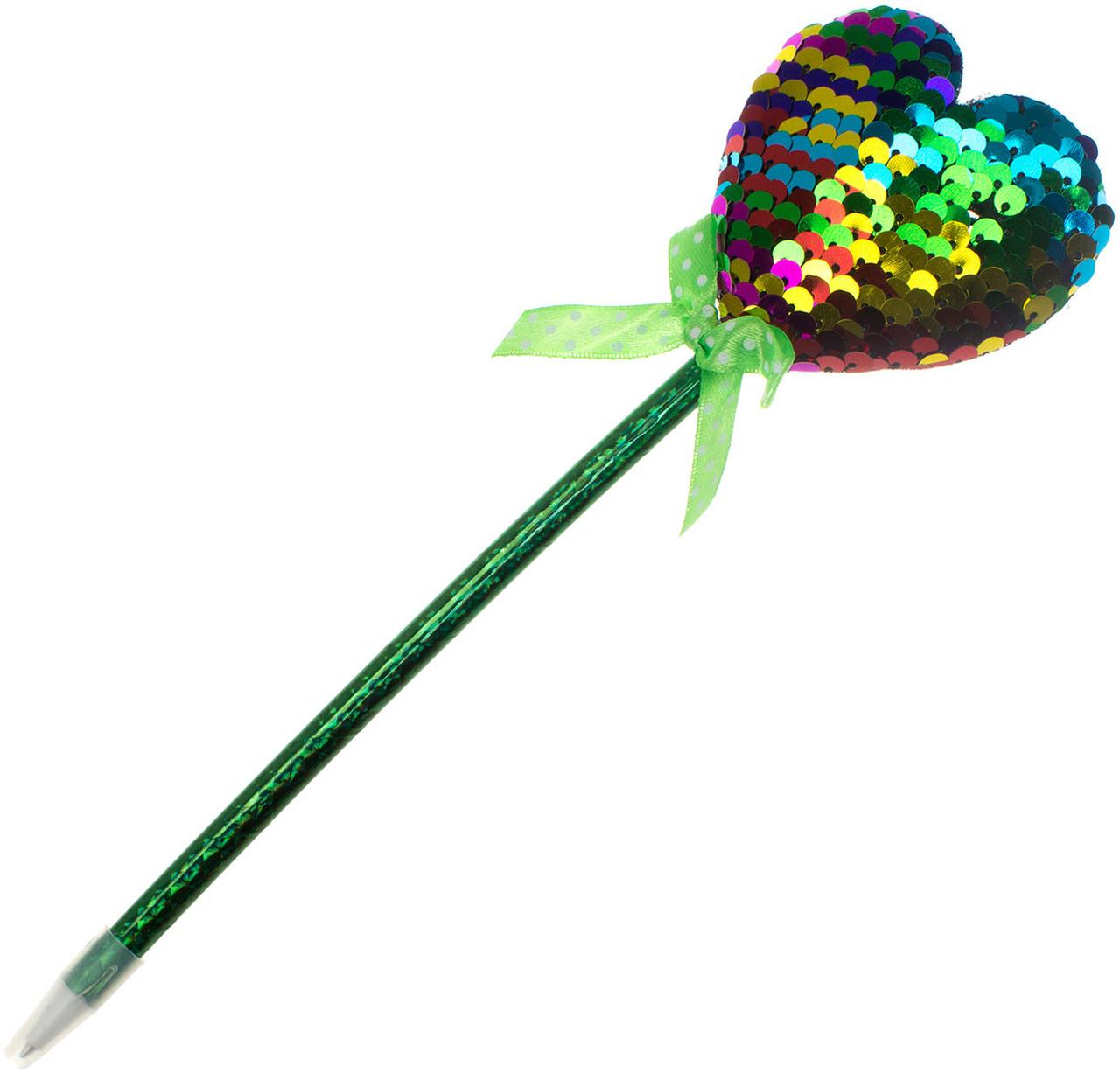 """Ручка кульк. """"Серце"""" №MK2446-1 синя(12)(504)"""