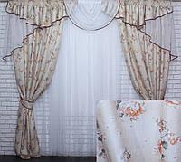 Комплект ламбрекен (№50) с шторами на карниз 2,5-3м. 1.5*2.70м.  050лш346 (Склад)