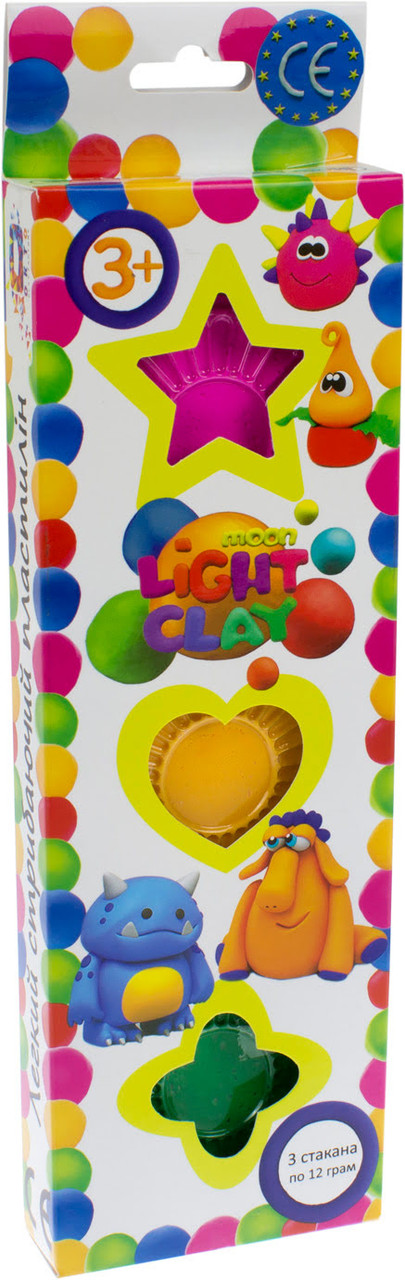 """Набір легкого магічного пластиліну """"Moon Light Clay"""" Асорті Світлофор №70026(24)"""