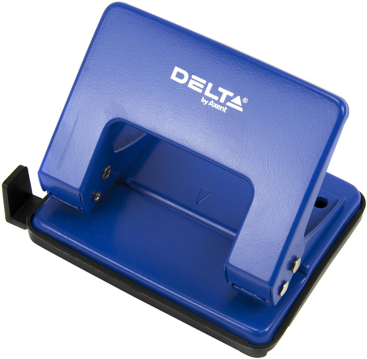 "Дирокол ""Delta by Axent"" 20арк. метал. синій №D3520-02(12)"