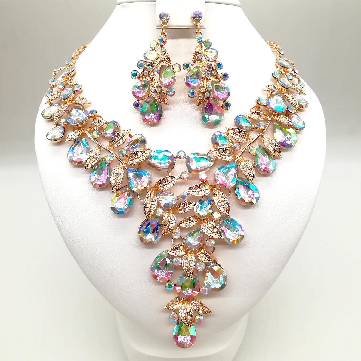"""Комплект SONATA (Колье + серьги), камни цвета """"хамелеон"""", 63079       (1)"""