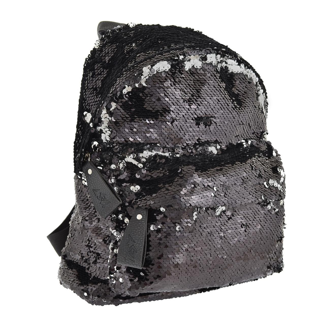 """Рюкзак """"Yes"""" GS-03 Black з паєтками 1від.,1карм. №557655"""