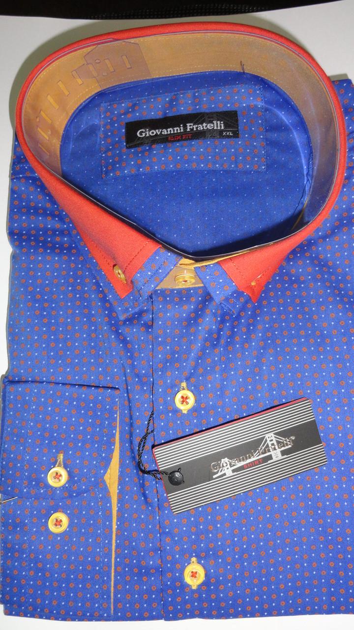 Рубашка мужская длинный рукав Giovanni Fratelli приталенная