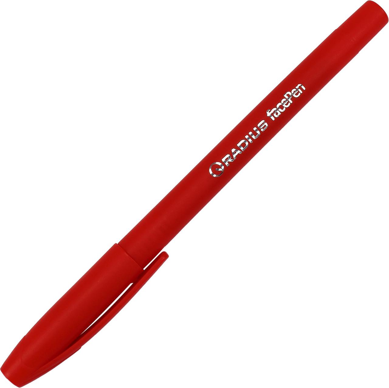 """Ручка кульк. """"Radius"""" №7890 Face pen 0,7мм картон.уп. черв.(50)(500)(2000)"""