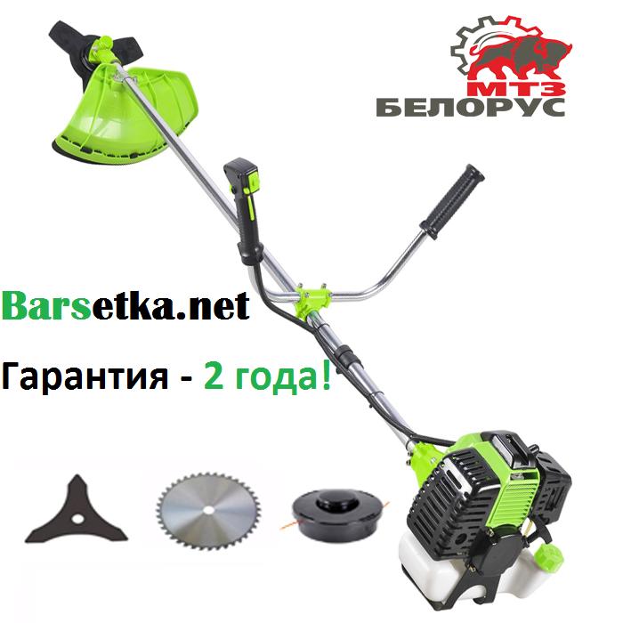 Бензокоса Белорус МТЗ БГ-5500 (Гарантия 2 года, 2 ножа, победитовый диск, катушка с леской)