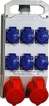 Монтажный набор 32A 3P + N + Z 400V, 16A 3P + N + Z 400V, 6x16A 2P + Z 250V, TAREL, E.NEXT [341]