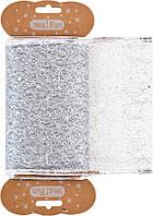 """Декоративна стрічка """"Santi"""" срібна,10смх2м №750244/Yes/"""