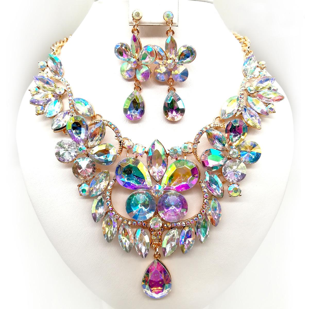 """Комплект SONATA (Колье + серьги), камни цвета """"хамелеон"""", 63325       (1)"""