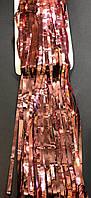 Шторка занавес из фольги для фото зон розовое золото 1х3 метра