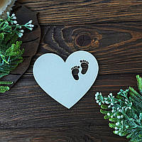 Заготовка для тиснения Сердце с следами