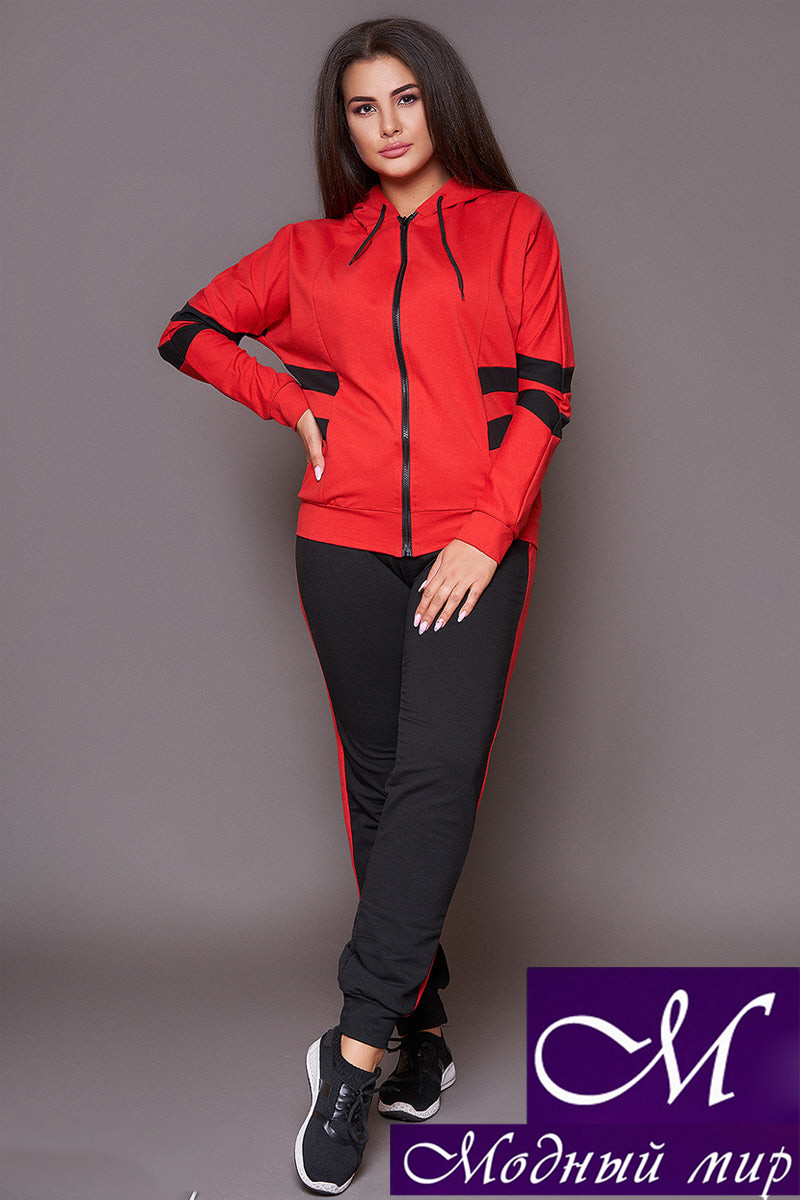 Женский красно-серный костюм батал (р. 48-50, 52-54) арт. 31-111