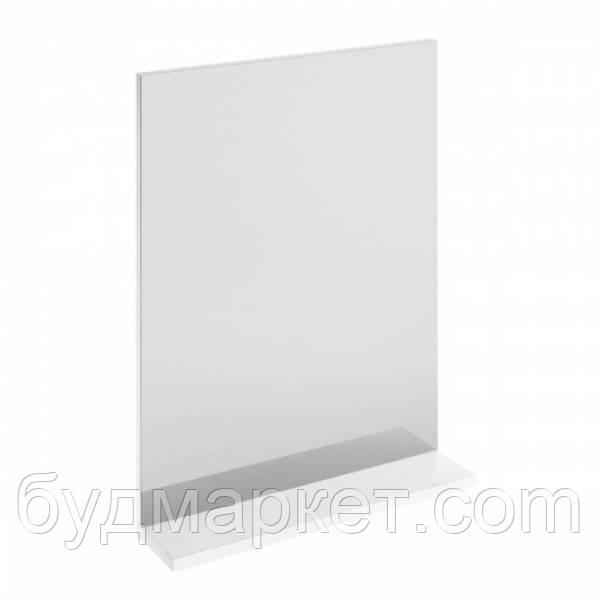 Зеркало Хаст Oмега 650х700, белое с полочкой