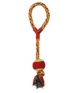 Игрушка для собак CROCI канат грейфер с ручкой и мячиком, 43см