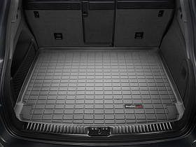 Ковер резиновый WeatherTech Porsche Cayenne 2011-2015 в багажник (стандартное аудио Bose) черный