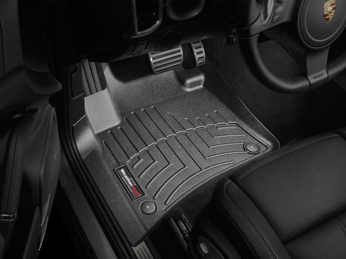 Ковры резиновые WeatherTech Porsche Cayenne 2015-2019  передние черные
