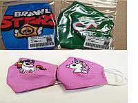 Маска детская защитная многоразовая c карманом для марлевого фильтра с любым персонажем