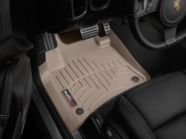 Ковры резиновые WeatherTech Porsche Cayenne 2011-2015  передние бежевые