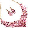 Комплект SONATA (Колье + серьги), нежно-розовые камни, 63071       (1), фото 3