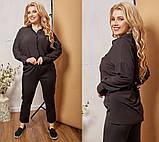 Женский классический костюм двойка рубашка+брюки батал размеры:48-50,52-54,56-58,60-62, фото 2