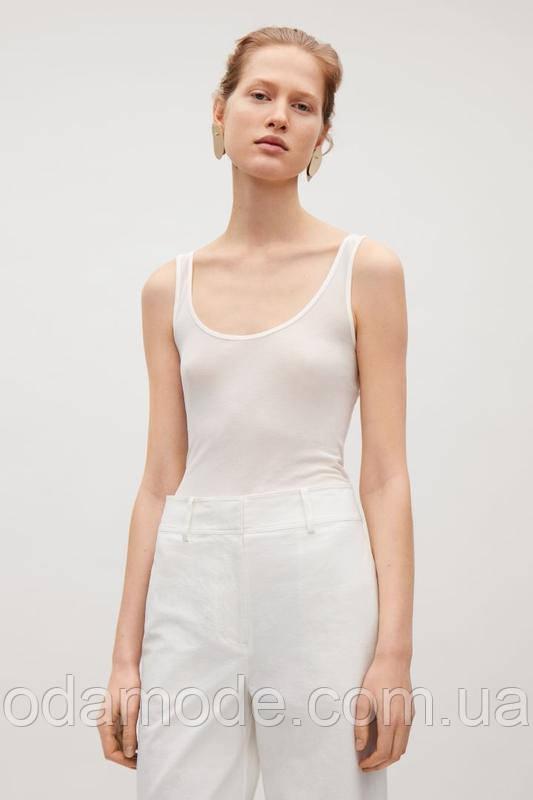 Майка женская молочно- белая шёлковая  COS