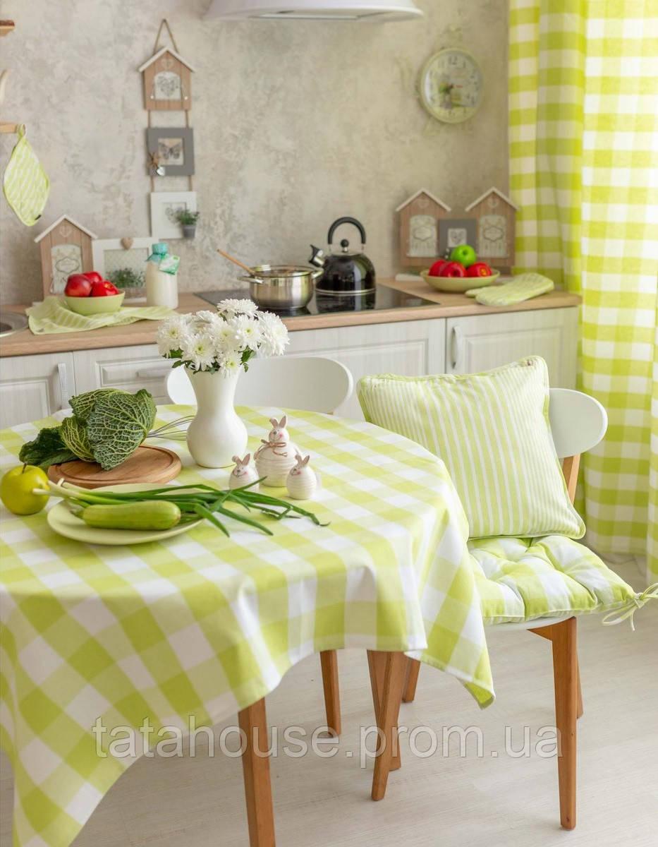 """Подушка на стул """"Кантри"""" зеленая, 40х40 см"""