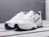 Мужские весенние кожанные кроссовки Nike Air Monarch IV белые, фото 3