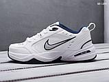 Мужские весенние кожанные кроссовки Nike Air Monarch IV белые, фото 4