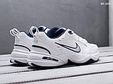 Мужские весенние кожанные кроссовки Nike Air Monarch IV белые, фото 5