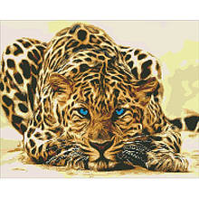 Алмазная вышивка Идейка - Леопард притаился 40*50 (АМ6125)