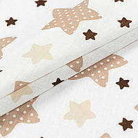 Ткань Ситец Звезды бежевый (504261)