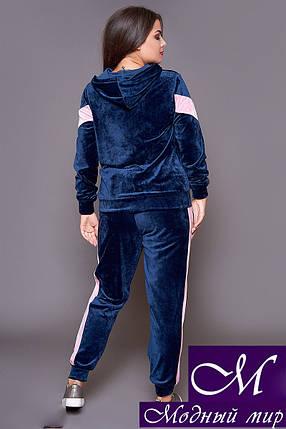 Женский спортивный костюм велюр батал (р. 48-50, 50-52, 52-54) арт. 31-485, фото 2
