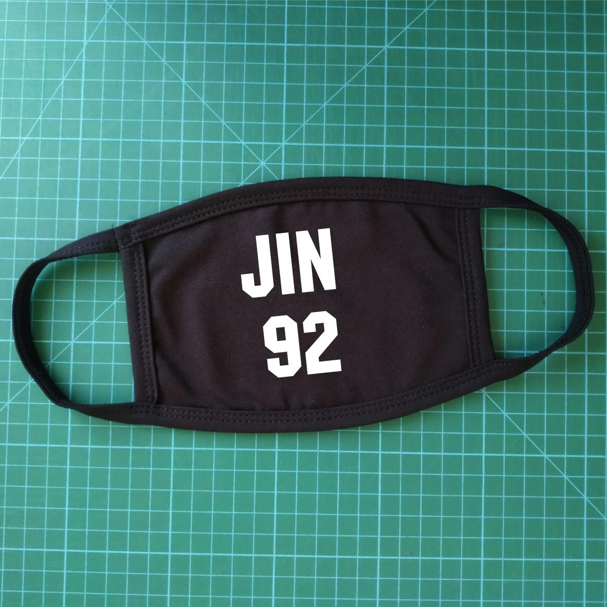 Тканинна сувенірна маска для обличчя. BTS Jin 92